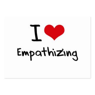 Amo el Empathizing Plantillas De Tarjetas De Visita