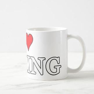 Amo el encajonar de la taza
