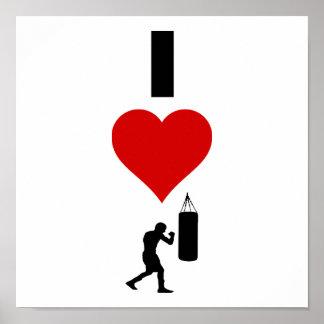 Amo el encajonar (la vertical) póster