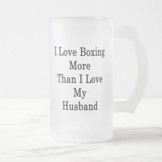 Amo el encajonar más que amor de I mi marido Taza Cristal Mate