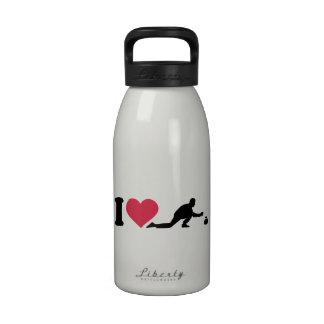 Amo el encrespar del jugador botella de agua
