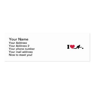 Amo el encrespar del jugador tarjeta de visita