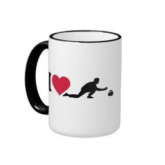 Amo el encrespar del jugador tazas de café
