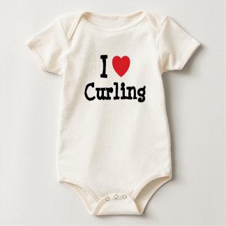 Amo el encrespar del personalizado del corazón body de bebé