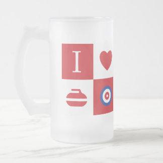 ¡Amo el encresparme! taza de cerveza