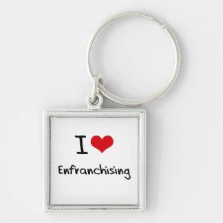Amo el Enfranchising Llaveros Personalizados