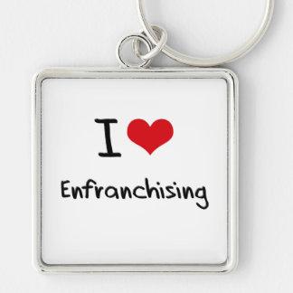 Amo el Enfranchising Llavero Personalizado