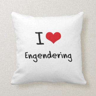 Amo el engendrar almohadas