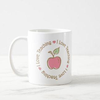 Amo el enseñar de Apple Taza Básica Blanca