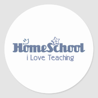 amo el enseñar de Homeschool Pegatina Redonda