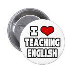 Amo el enseñar de inglés pin