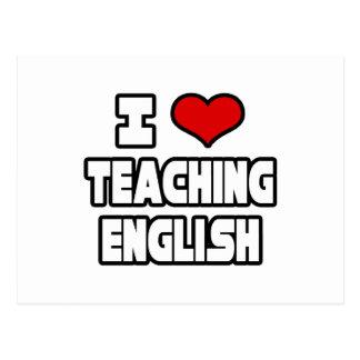 Amo el enseñar de inglés postal