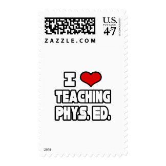 Amo el enseñar del PE Timbre Postal