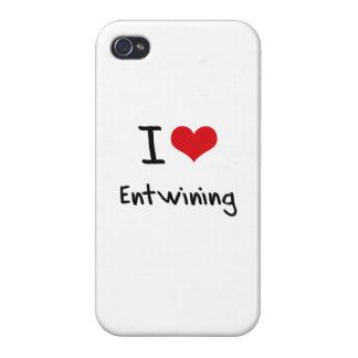 Amo el entrelazar iPhone 4 funda