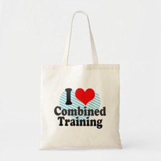 Amo el entrenamiento combinado bolsa tela barata