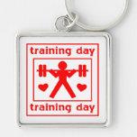 Amo el entrenar de día llavero