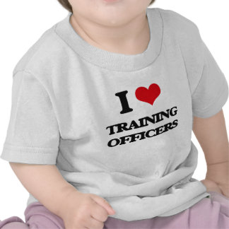 Amo el entrenar de oficiales camisetas