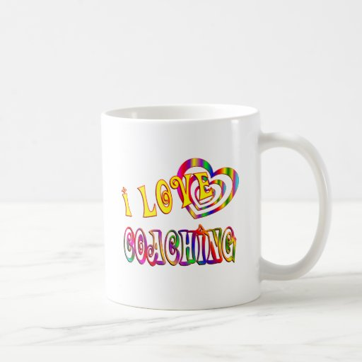Amo el entrenar taza de café