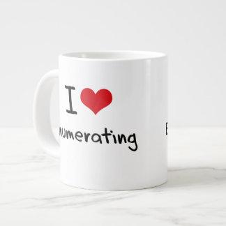 Amo el enumerar taza grande