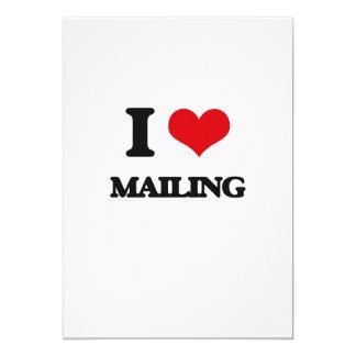 Amo el enviar invitación 12,7 x 17,8 cm
