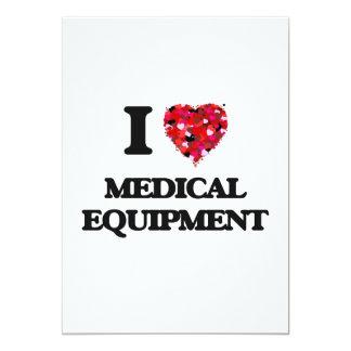 """Amo el equipamiento médico invitación 5"""" x 7"""""""