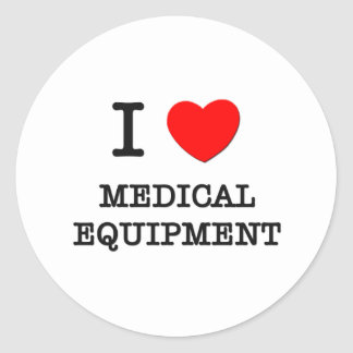 Amo el equipamiento médico pegatina redonda