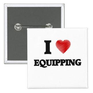 Amo el EQUIPAR Pin Cuadrado