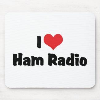 Amo el equipo de radio-aficionado alfombrillas de ratón