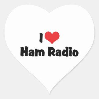 Amo el equipo de radio-aficionado calcomanía de corazón