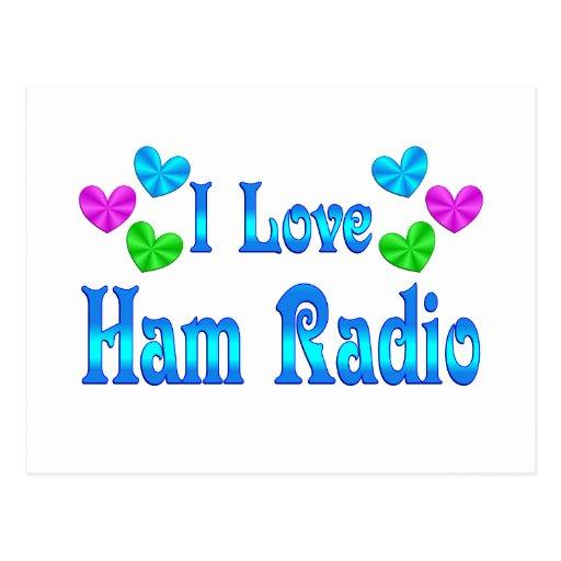 Amo el equipo de radio-aficionado postal
