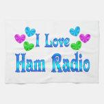 Amo el equipo de radio-aficionado toalla