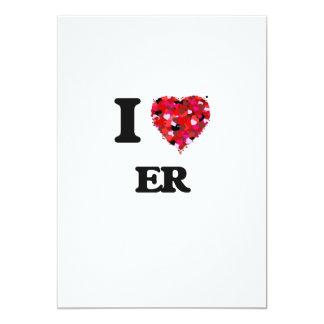 """Amo el ER Invitación 5"""" X 7"""""""