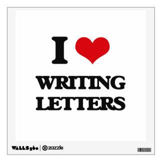 Amo el escribir de letras