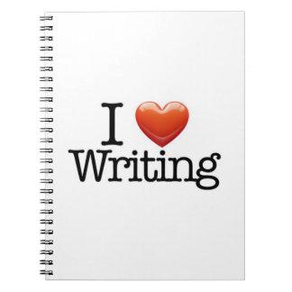 Amo el escribir del cuaderno blanco