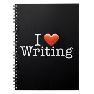 Amo el escribir del cuaderno negro