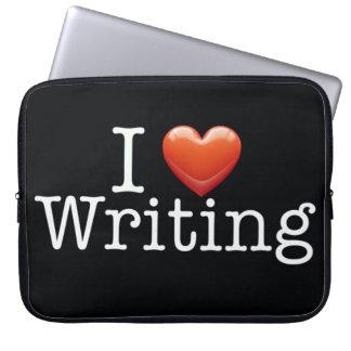"""Amo el escribir del negro 15"""" manga del ordenador  manga portátil"""