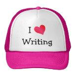 Amo el escribir gorras de camionero
