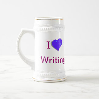 ¡Amo el escribir! Stein Taza De Café