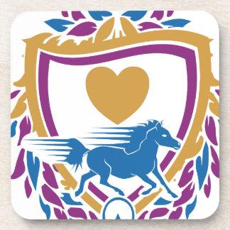 Amo el escudo rápido de los caballos posavaso