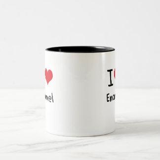 Amo el esmalte taza