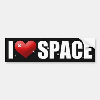 Amo el espacio etiqueta de parachoque