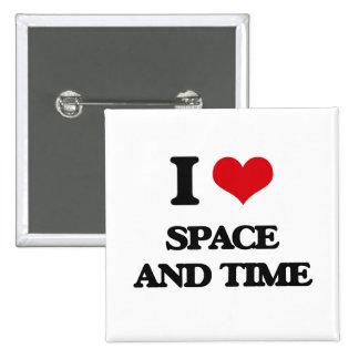 Amo el espacio y mido el tiempo chapa cuadrada 5 cm
