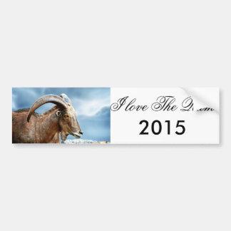 Amo el espolón 2015 pegatina para auto