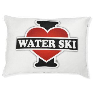 Amo el esquí acuático cama para perro grande