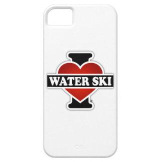 Amo el esquí acuático iPhone 5 carcasas