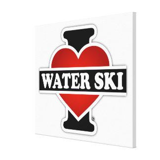 Amo el esquí acuático lona estirada galerías
