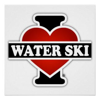 Amo el esquí acuático perfect poster