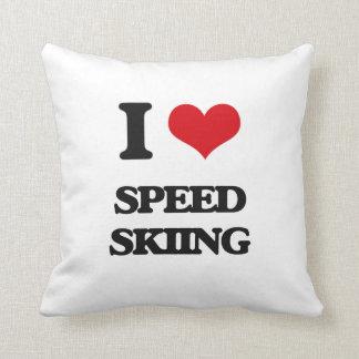 Amo el esquí de la velocidad cojines