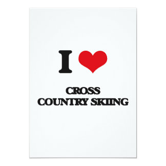 """Amo el esquí del campo a través invitación 5"""" x 7"""""""