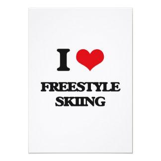 Amo el esquí del estilo libre anuncio personalizado